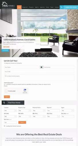 Real estate Property website android application Rs 12000
