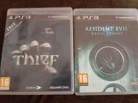 Ps3 games Resident Evil revelations, thief