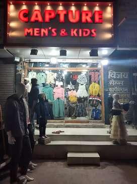 Sales man chaiye Mens & kids wear shop hai  pandri, raipur ma