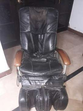 Imported electric leather black home used full body massage chair