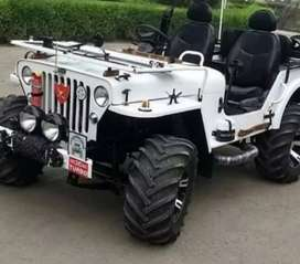 Willy open white jeep