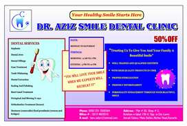 Male and female BDS dentist required on % basis or salary
