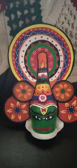 Bottle art kathakali