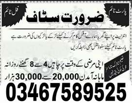Jobs Available for male/ female