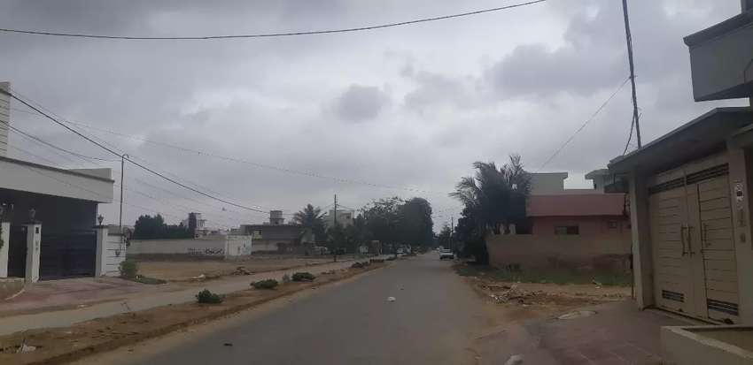400 yards west open 60 feet road plot sell in block-4, saadi town 0