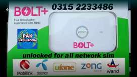 Zong 4G Bolt Plus All Sim Working Internet Device