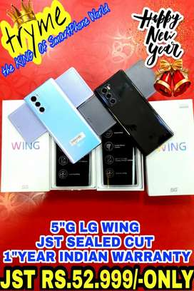 TRYME 5G LG WING Indian Warranty Full kit Bil Box So Dont Miss It