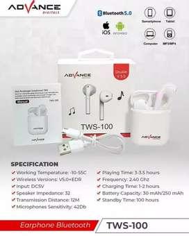 Airphone Bluetooth TWS Dual Original Dari Advance