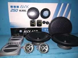 Speaker split AVX berikut crossoper dan twiter