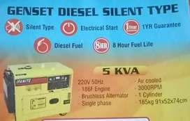 Genset Diesel Silent 5 kva