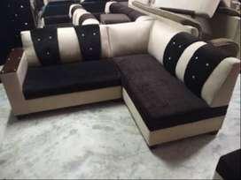 brand new designer l shape creme and brown sofa