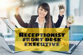 Walk in for receptionist (front office executive)