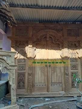 seng ati ati cuci gudang pintu gebyok gapuro rumah hotel kantor masjid