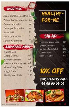 Salad smoothie sandwich & More