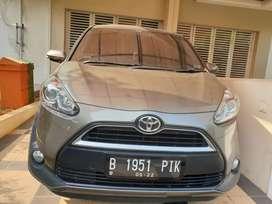 Toyota Sienta V Matic 2017 Coklat Kondisi Mulus Terawat bs tt brv,hrv