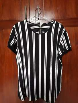 blouse stripes black & white