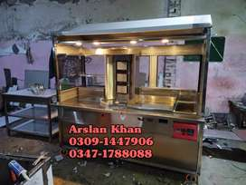 Fryer, Hotplate, Grill,Food Counters, all commercial kitchen equipment
