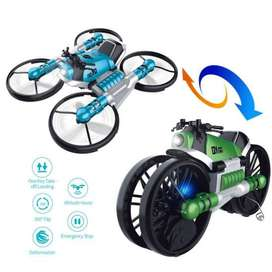 2019 Online Store HHD H6 Motorcycle Folding RC Drone 2-in-1 Deformatio