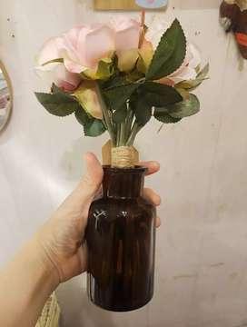 botol kaca vas bunga