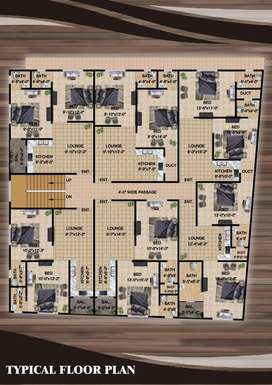 650 square feet 2 bed lounch new