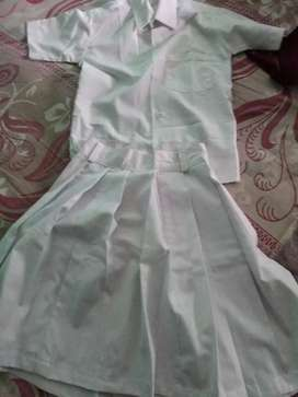 White shirt and skirt for girls set for 10 years
