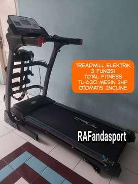 Treadmill Elektrik 3 Fungsi TL-630 Mesin 2Hp Otomatis Incline