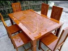 kursi makan meja simple