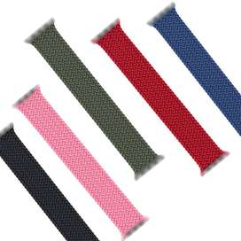 Braided Solo Loop For Apple watch band 44mm 40mm 38mm 42mm FABRIC Nylo