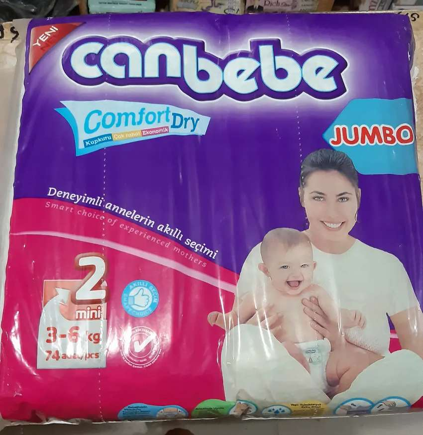 Canbebe diapers size small 2 (3-6kg) 0