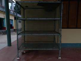 Brand new BIRD cage with solid iron and wheel. Size with 5×5×3 feet.