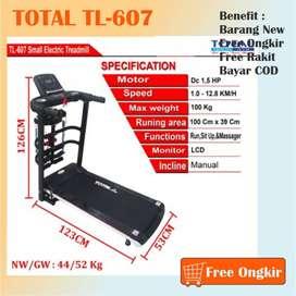 Promo Jual Alat Treadmill Elektrik TL-607 Termurah Free Ongkir CODD