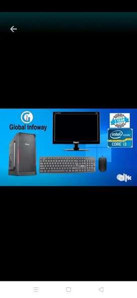Intel i3 full system with 1 year warranty
