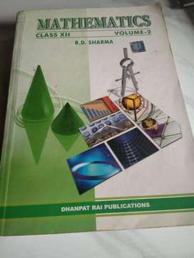 RD SHARMA mathematics class 12th vol 1 and 2