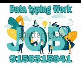 Get good payments on data typing home based job with typing skills