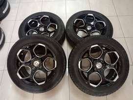 VELG SECOND RING 15 HRE PCD8X100-114,3 + BAN 185 65 R15