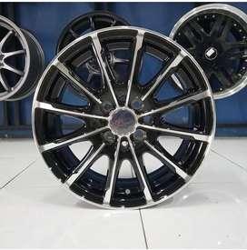 Velg Mobil Avanza, Yaris dll Type DIPLOMATI HSR R16 Black Machine Face