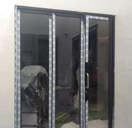 """Pintu kaca lipat dan kusen alumunium """"2185"""