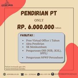 PENDIRIAN CV PT YAYASAN GRATIS 1 TAHUN VIRTUAL OFFICE JAKARTA SELATAN