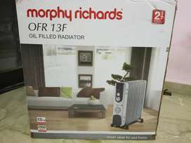 Morphy Richards room heater 13 fin 2years old