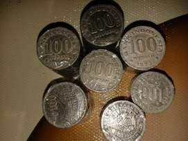 Di jual Koin 100 th 73 dan 78