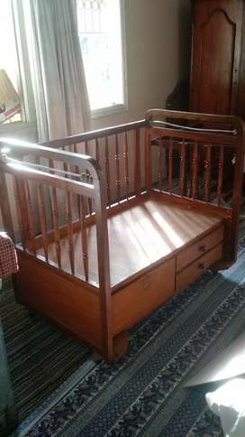 CHILD BABY COT WOOD