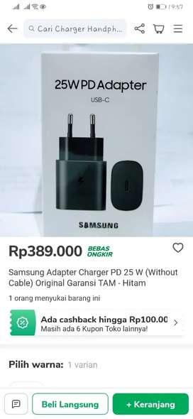 Adaptor Fast Charging Samsung 25Watt USB-C to USB- Ori Segel Kotak