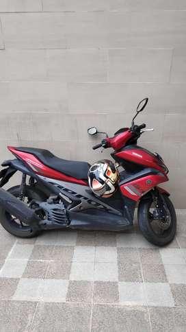 Yamaha Aerox 155 2018 merah km 11000