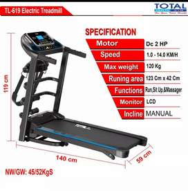 treadmill elektrik total TL-619 F-114 electric treadmil alat fitnes
