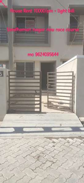 3bhk house for Rent 8000/month + light bill...