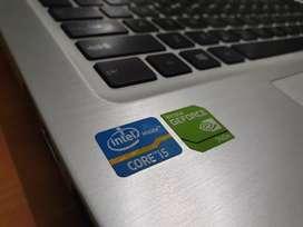 Laptop ASUS Premium A46C Core i5 Dobel VGA RAM 8GB