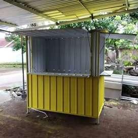 kreditan usaha FRANCHISE ES TEH booth container kekinian cicilan 6bln