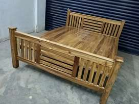 New teak  queen cot home delivery (8O784)WhatsApp(565O4)
