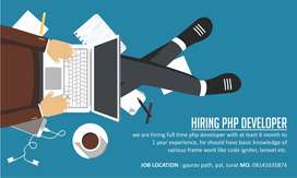 Urgently Hiring PHP DEVELOPER