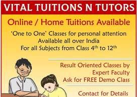 Vital tuitions and tutors